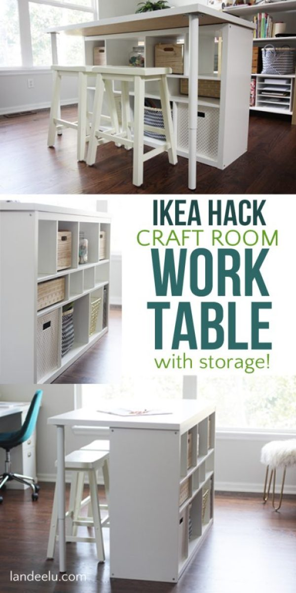 Ikea Hack Craft Room Table An Easy Ikea Hack For Your Craft Room