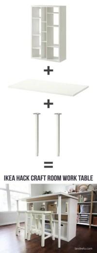 IKEA Hack: Craft Room Work Table - landeelu.com
