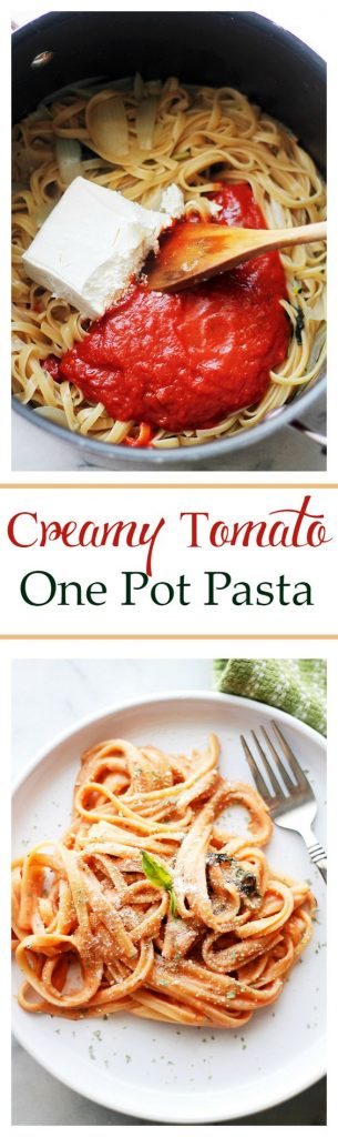 Creamy Tomato One Pot Pasta Recipe - only 25 minutes to make! | Diethood