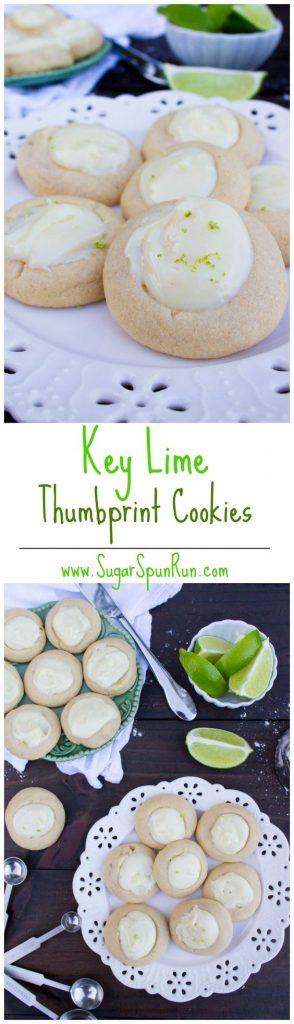 Key Lime Thumbprint Cookies Recipe | Sugar Spun Run