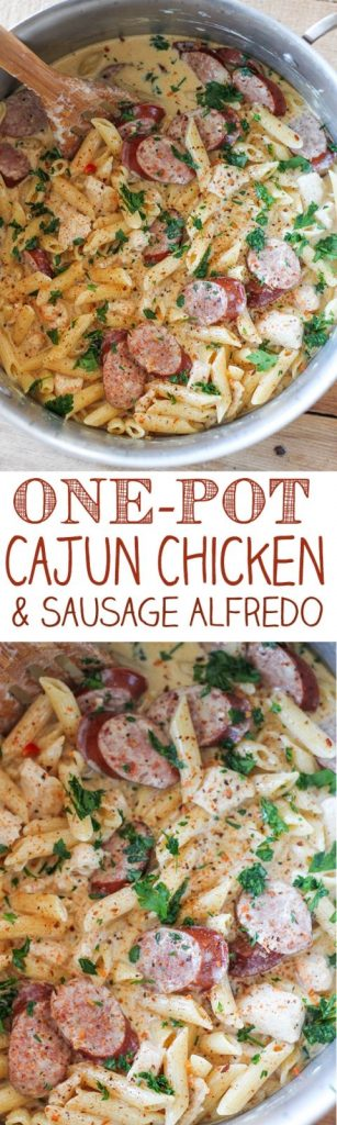 One-Pot Cajun Chicken and Sausage Alfredo Pasta Recipe | No. 2 Pencil
