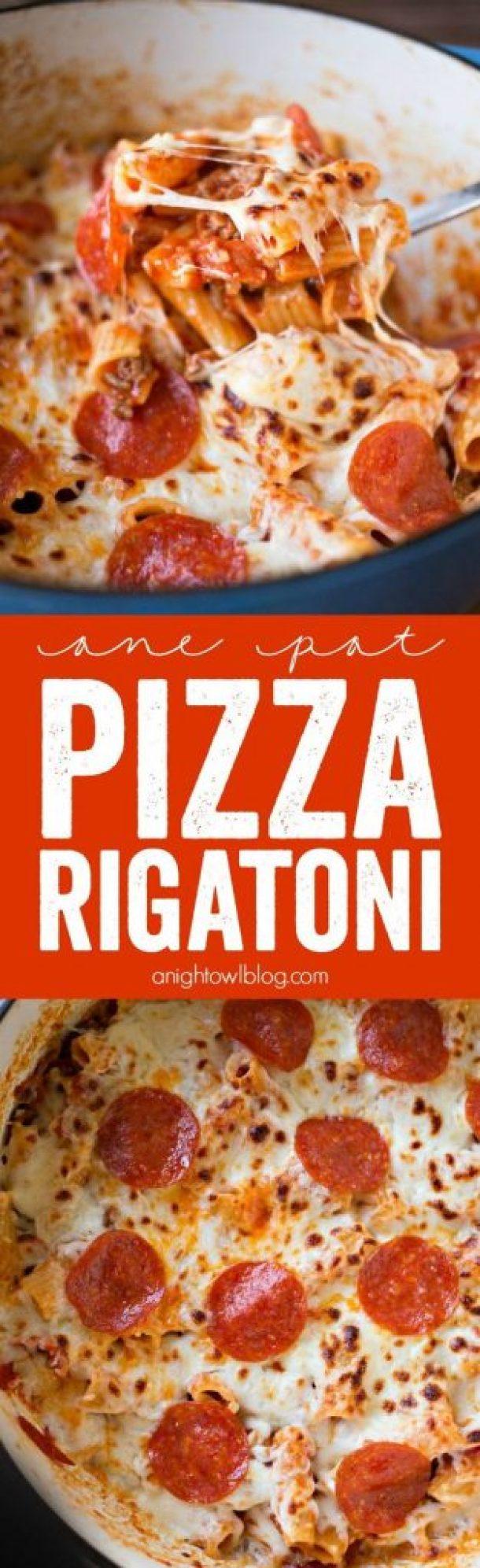 One Pot Pizza Rigatoni Recipe | A Night Owl Blog