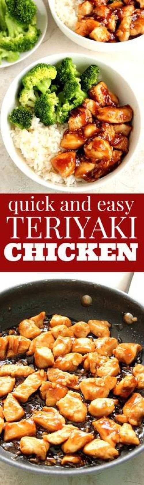 Quick Dinner Ideas - Quick and Easy Teriyaki Chicken Dinner Recipe via Crunchy Creamy Sweet