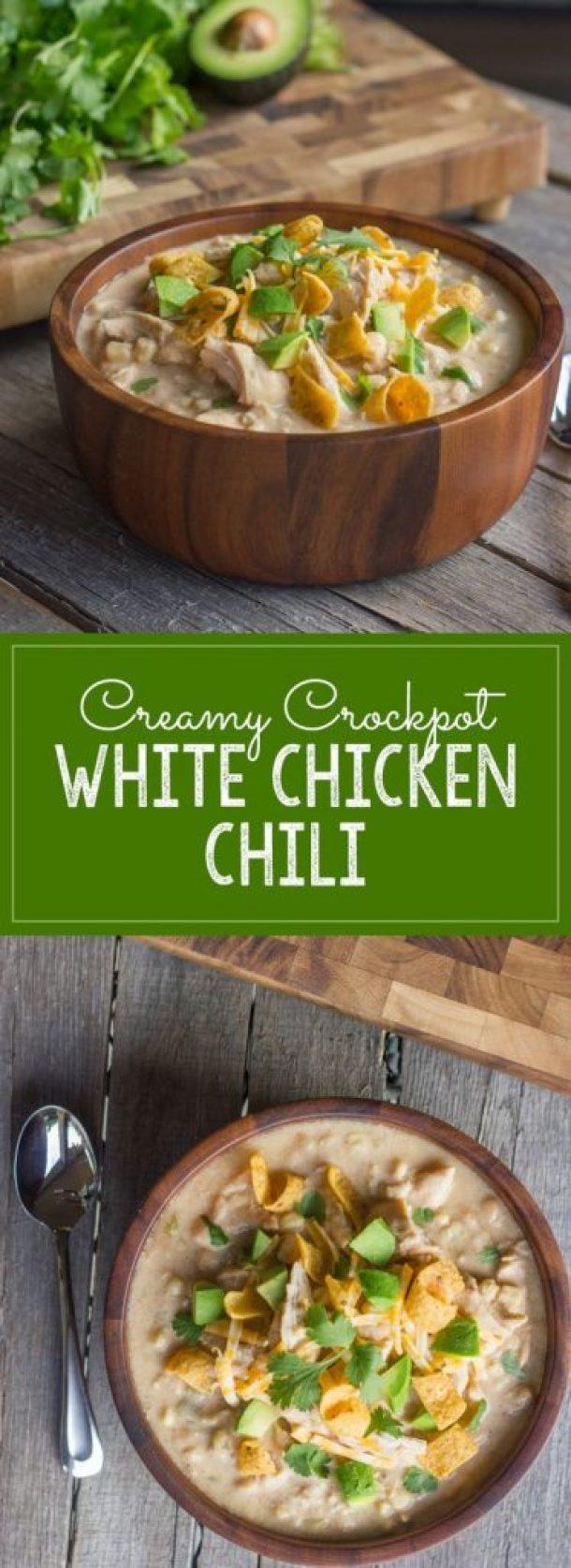 Lovely Little Kitchen Creamy Crockpot White Chicken Chili