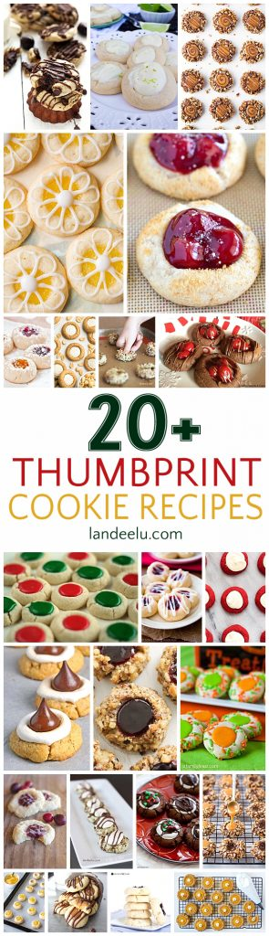 Over 20 pretty and delicious thumbprint cookies to make!
