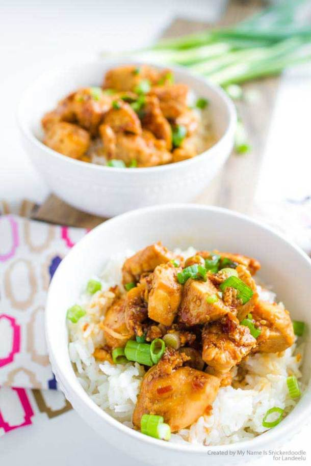 A delicious Teriyaki Chicken Bowl recipe that the whole family will love! | Landeelu