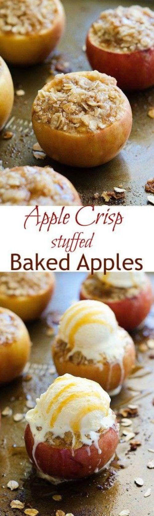 Apple Crisp Stuffed Baked Apples Recipe | Life in The Lofthouse - Apple Recipes