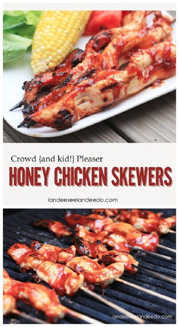 Crowd Pleaser Honey Chicken Skewers Recipe | Landeelu