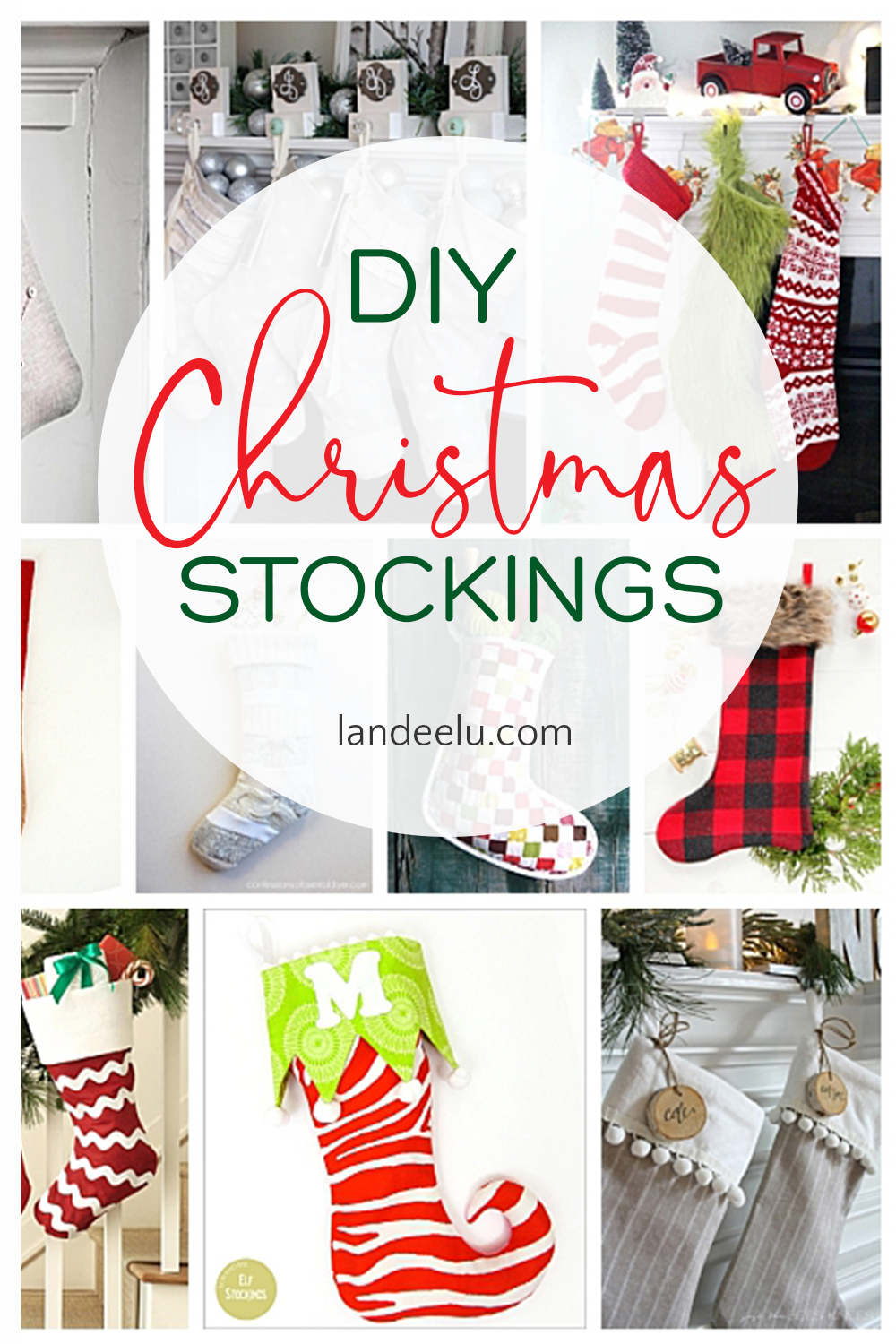 Darling Christmas stockings for you to make yourself... that makes them extra special! #diychristmasstockings #diystockings #christmasstockings #christmascrafts #stockings