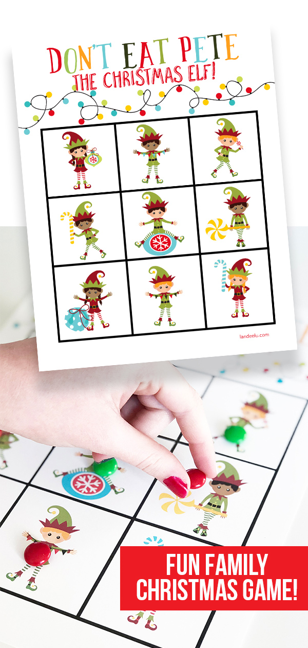 Add this Christmas version of Don't Eat Pete to your collection of fun family Christmas games! The kids will LOVE it! #christmasgame #christmasprintable #donteatpete #kidsgame