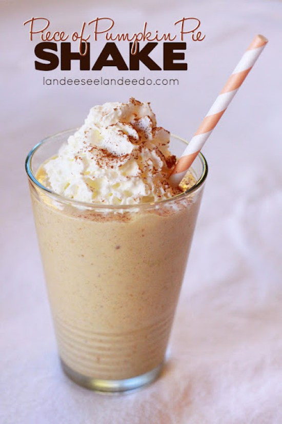 Piece of Pumpkin Pie Shake Recipe | Landeelu