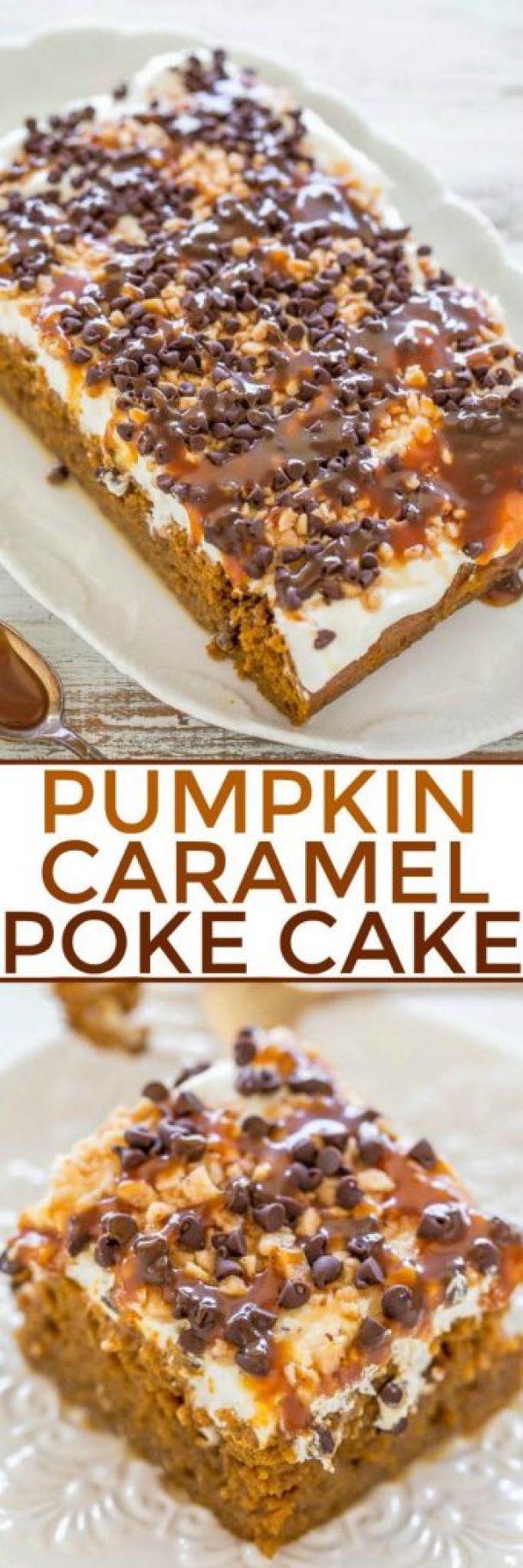 Pumpkin Caramel Poke Cake Recipe | Averie Cooks