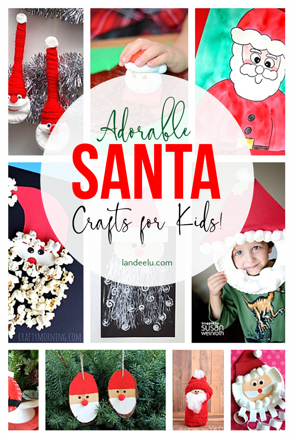 These Santa Christmas crafts for kids are too stinkin' cute! #santacrafts #christmascrafts #craftsforkids #christmascraftsforkids