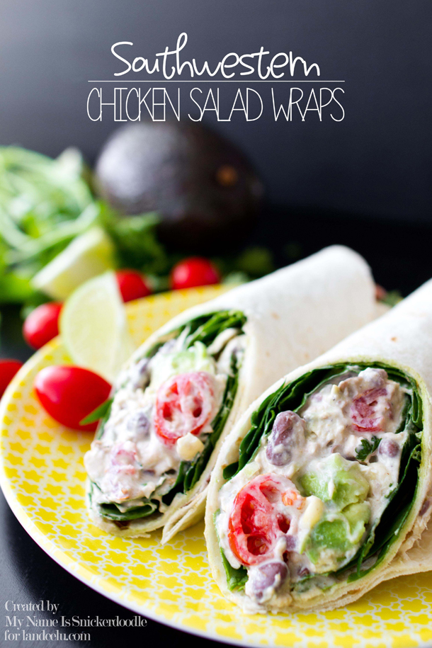 Southwestern Chicken Salad with Avocado and Lime Wraps Recipe | Landeelu