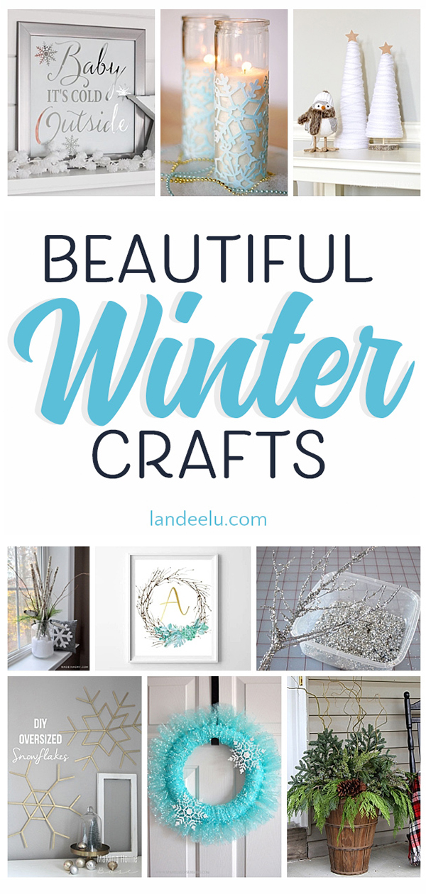 I love these winter crafts... such pretty wintery colors and ideas! #wintercrafts #crafts #snowmencrafts #classycrafts