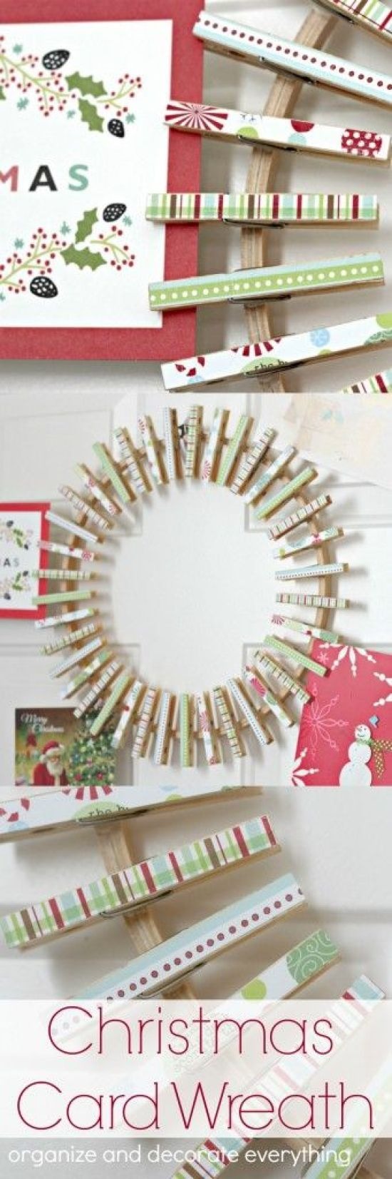 DIY Christmas Card Holder and Display Ideas - landeelu.com