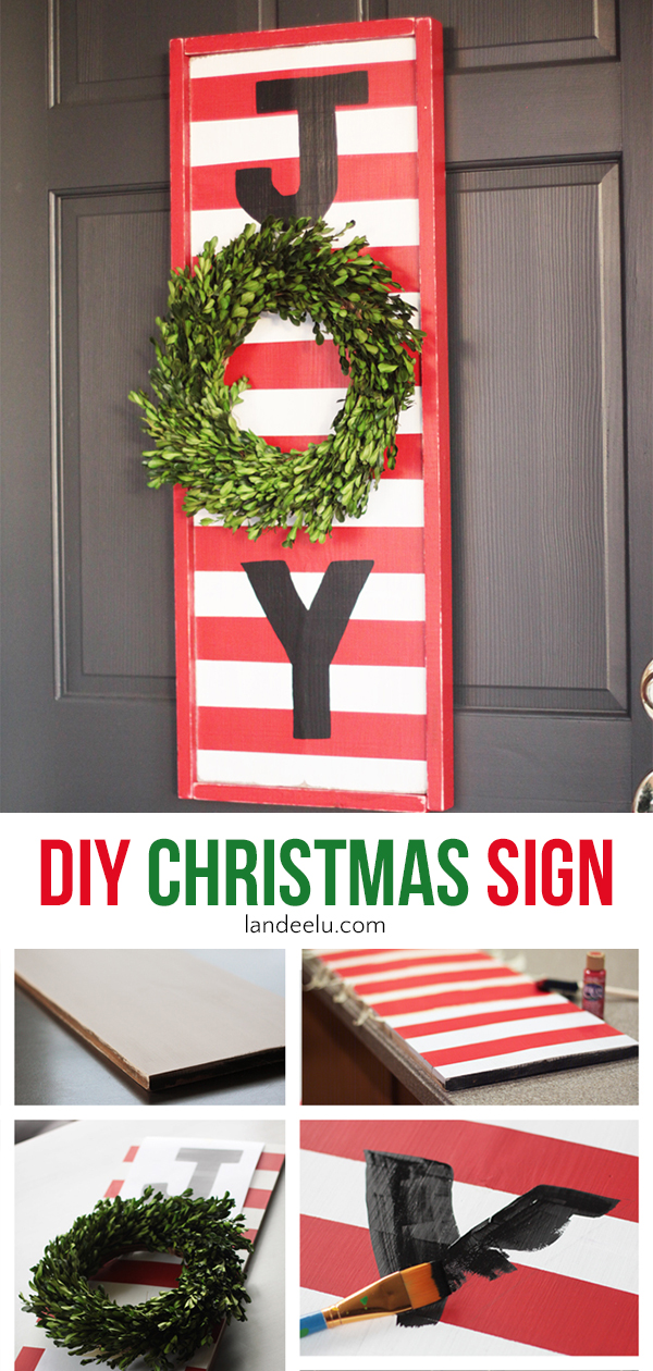 DIY Christmas Sign... so fun to make! #diychristmas #christmascraft #christmas #christmassign