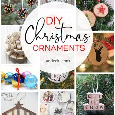 Have a beautiful handmade Christmas with these DIY Christmas ornaments! #diychristmasornaments #christmascrafts #ornaments #diychristmas