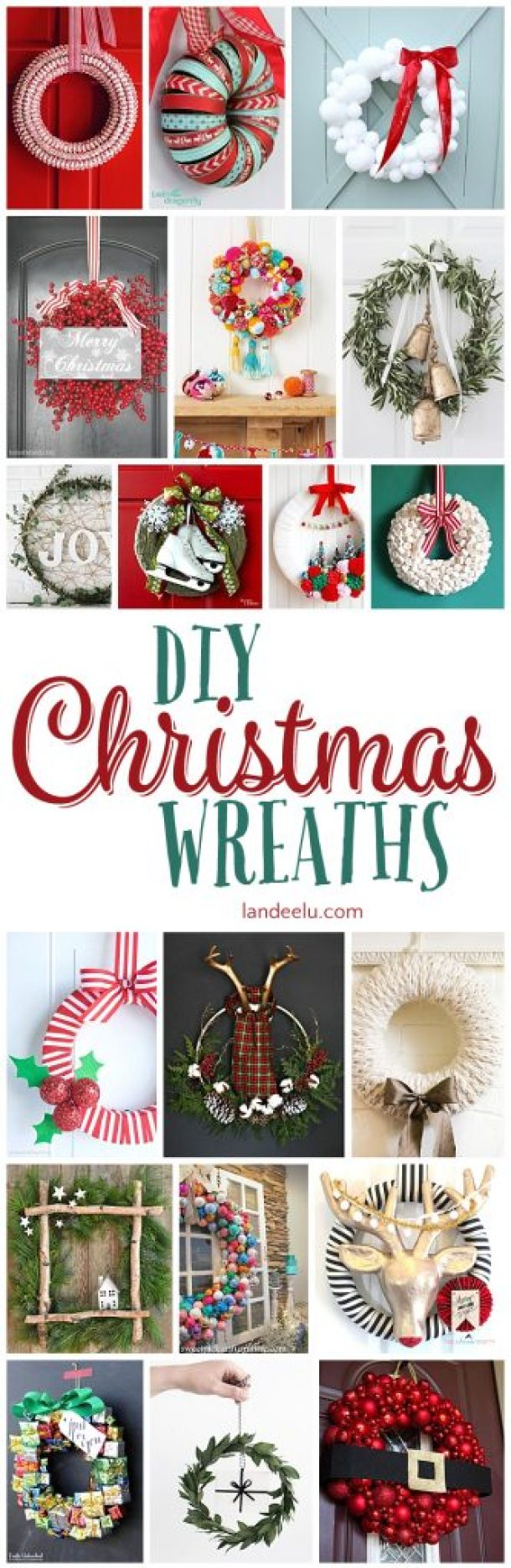 I love Christmas crafts! These DIY Christmas wreaths are awesome... I want to make some!