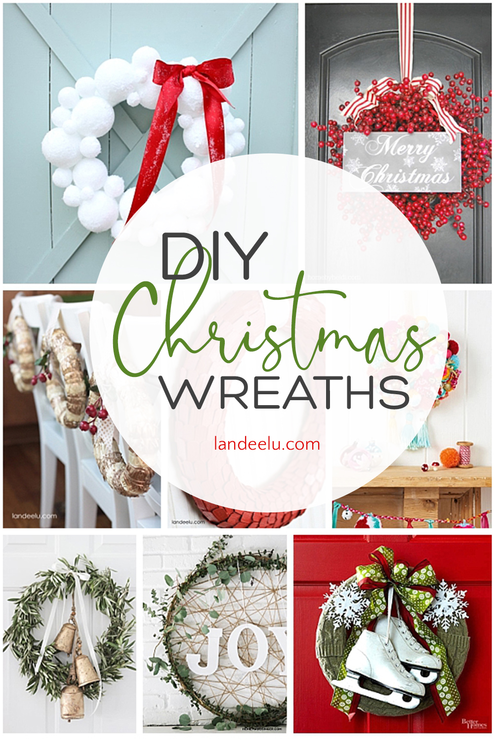 I love Christmas crafts! These DIY Christmas wreaths are awesome... I want to make some! #christmaswreaths #christmascrafts #wreaths #diywreaths #christmasdecor