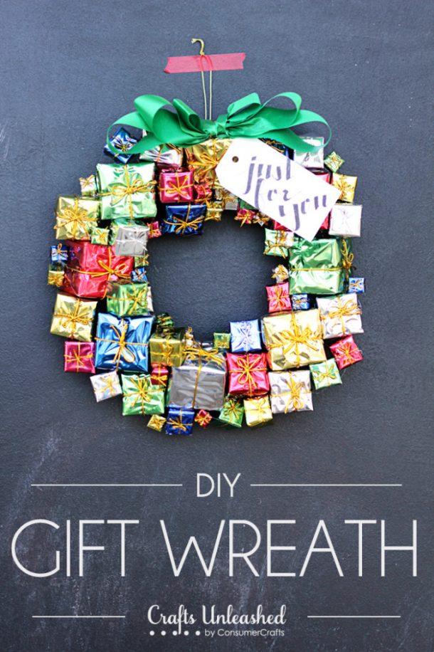 DIY Gift Box Christmas Wreath Tutorial | Crafts Unleashed
