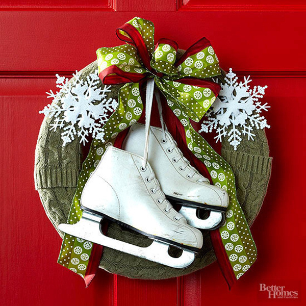 Decorating With Ice Skates For The Christmas Winter Seasons