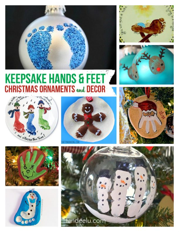Keepsake Christmas Ornaments using Kids Hands and Feeties! | Landeelu