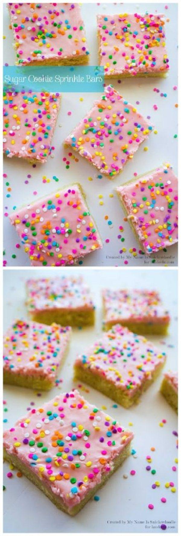 Sugar Cookie Sprinkle Bars Recipe | Landeelu