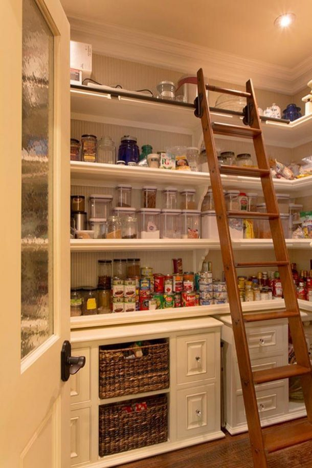 Be still my heart... I wish I had a pantry big enough to be able to add one of these awesome ladders! | One Kindesign