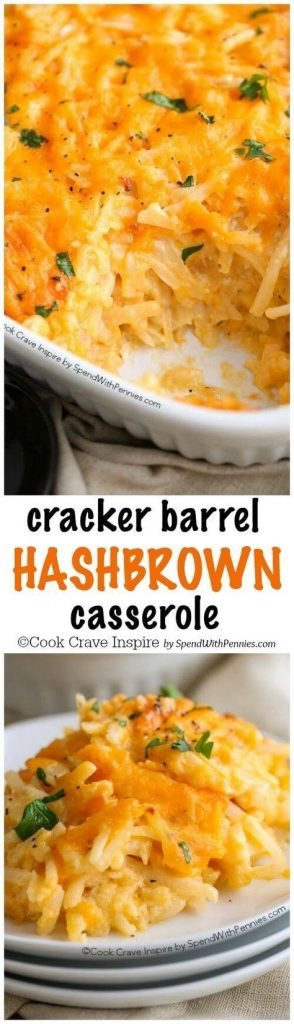 Copy Cat Cracker Barrel Hashbrown Breakfast Casserole Recipe | Spend With Pennies