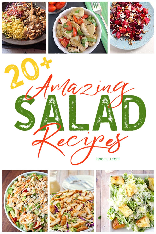 So many delicious salad recipes! #salad #saladrecipes #healthyrecipes #recipes