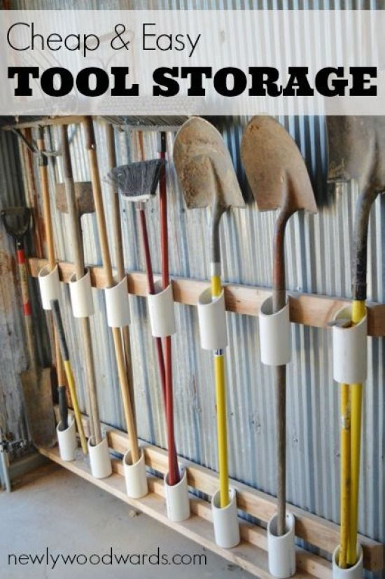 The DIY garden tool storage idea that will save your sanity | Newly Woodwards