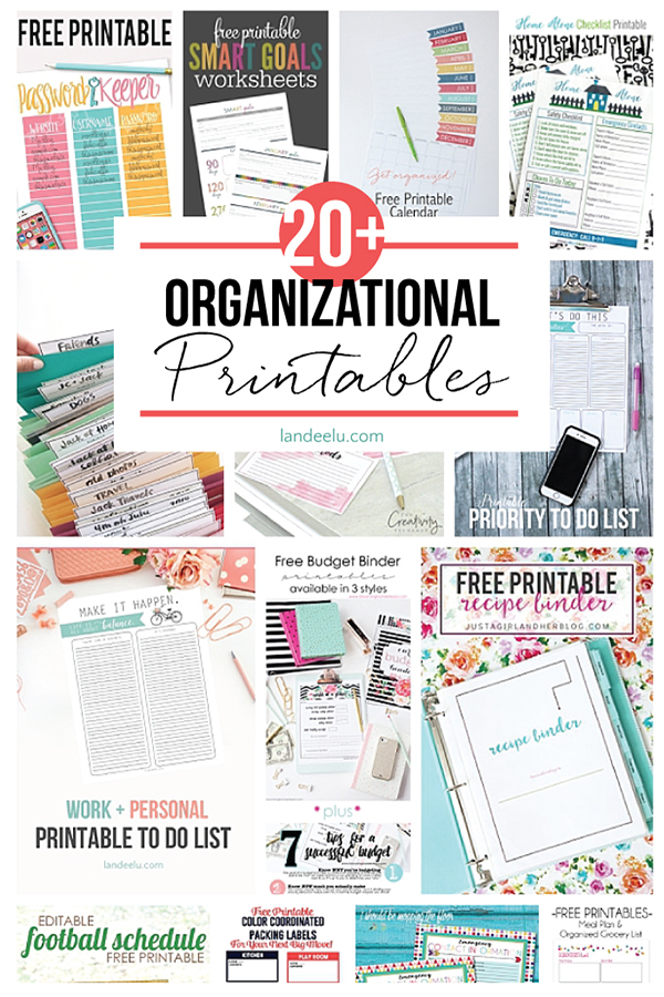 graphic about Free Printable Home Organization Worksheets called Organizational Printables -