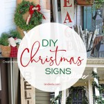 DIY Outdoor Christmas Sign Ideas | landeelu.com #diychristmas #diychristmassigns #christmassignideas #diyoutdoorsigns