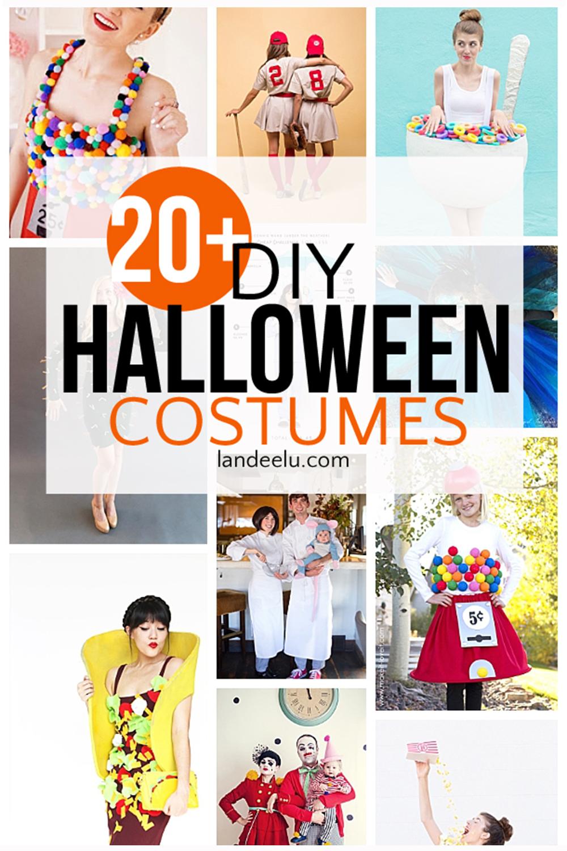 So many fun DIY halloween costumes! Family Halloween costume ideas too! #diyhalloween #halloweencostumes #halloweenideas #halloweencostumeideas #halloween