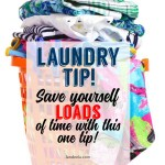 How to save yourself LOADS of time when doing laundry... follow this one laundry tip! #laundry #laundryhack #laundrytip