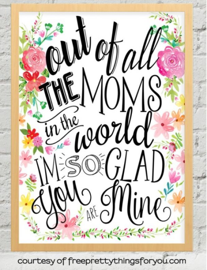 Creative Mother's Day Pennant Gift Tags and Framable Wall Art Printables | Free Pretty Things for You