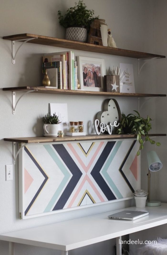 Transform a plain cork board into a piece of art! Perfect for a stylish home office. A beautiful mix of form and function!