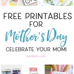 20 Free Mother's Day printables to help celebrate your mom! Tags, cards, artwork and more... all free! #mothersday #mothersdaygiftidea #giftideas #mothersdayideas