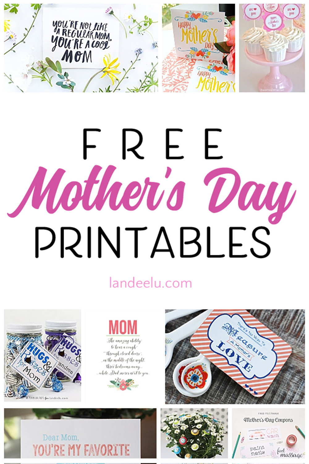 20 Free Mother's Day printables to help celebrate your mom! Tags, cards, artwork and more... all free! #mothersday #mothersdaygiftideas #mothersdaygifts #giftideas