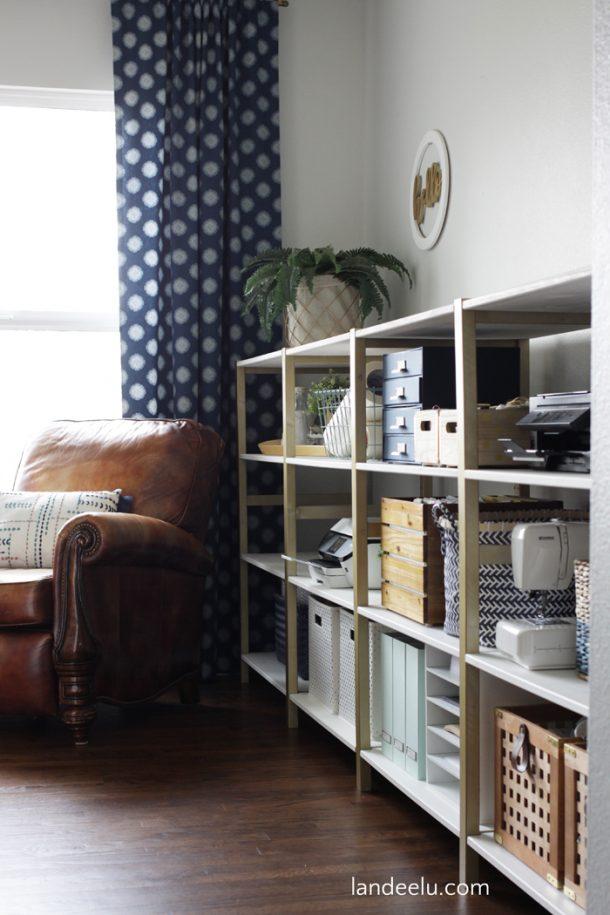 IKEA Hack IVAR Home Office Shelves  landeelucom