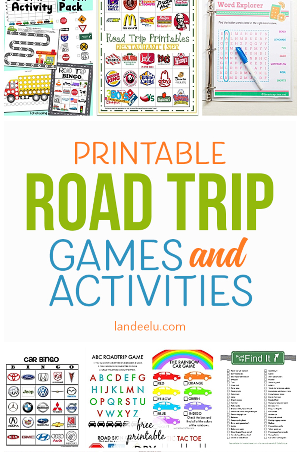 graphic relating to Fun Printable Games known as Printable Auto Game titles for Youngsters: A Need to for Your Up coming Street Family vacation