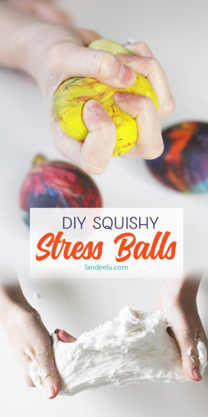 "These DIY stress balls are so addicting! They are perfectly ""squishable"" but have a fun texture too! Great kids craft!"