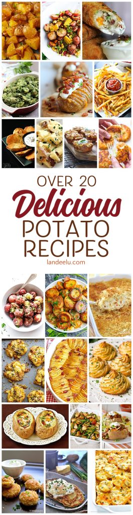 Looking for some amazing potato recipes? This is the place! Over 20 delicious potato recipes just waiting for you to try!