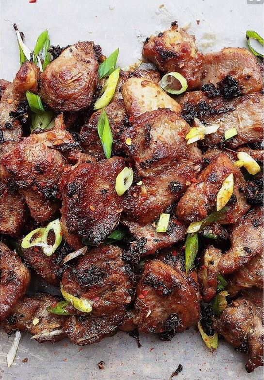 """Vietnamese Grilled Lemongrass Pork Recipe   I Heart Umami """"This is a Paleo and Keto friendly Vietnamese Grilled Lemongrass Pork. The pork is grilled to perfection with caramelized surface."""""""