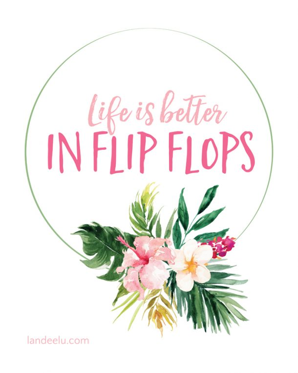 photo about Flip Flop Printable known as Lifetime is Improved within Change Flops Summertime Printable -
