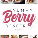 It's berry season! Grab your self some (either from the store or your garden!) and make some delicious raspberry, blueberry and strawberry desserts!