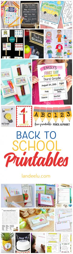 Download these back to school printables this fall!
