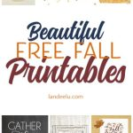 Over 20 free fall printables to easily download and print! I love them all!