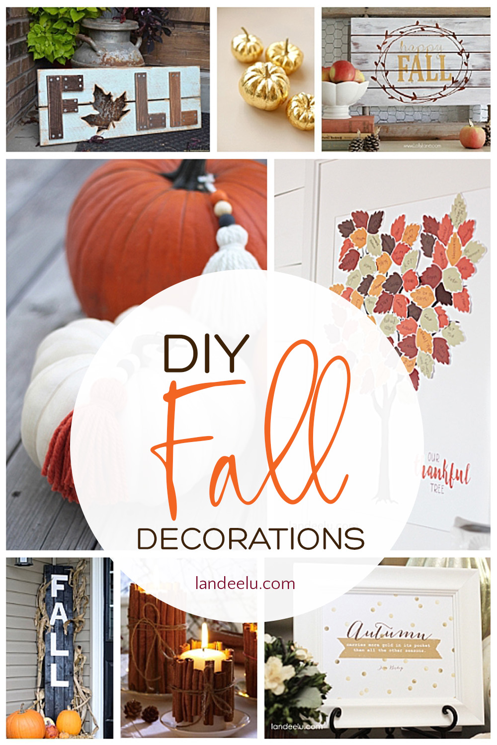 Deck the halls for fall! Beautiful ideas for DIY fall decorations! #falldecor #falldecorations #diyfalldecor #autumndecor #fallideas